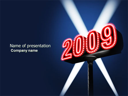 Holiday/Special Occasion: 2009 Premiere PowerPoint Template #04197