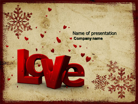 Christmas Love Free PowerPoint Template, 04198, Holiday/Special Occasion — PoweredTemplate.com