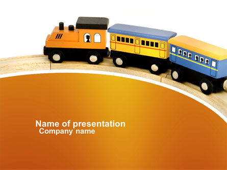 Cars and Transportation: Toy Train PowerPoint Template #04200