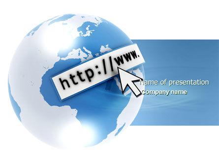 Telecommunication: Site Address PowerPoint Template #04201