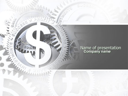 Financial/Accounting: World Hard Currency PowerPoint Template #04203