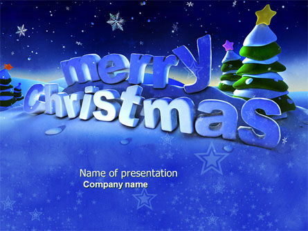 Happy Christmas Theme Free PowerPoint Template, 04205, Holiday/Special Occasion — PoweredTemplate.com
