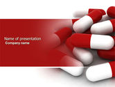 Medical: Red White Pills PowerPoint Template #04208