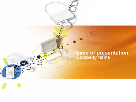 Device Connection PowerPoint Template, 04209, Technology and Science — PoweredTemplate.com
