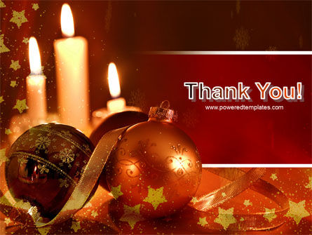 Christmas Decorations And Candles PowerPoint Template Slide 20