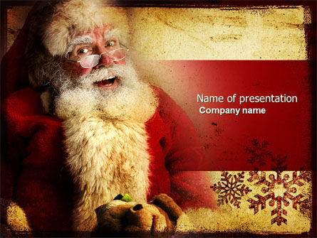 Holiday/Special Occasion: Santa Claus Free PowerPoint Template #04212