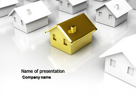 Private House PowerPoint Template, 04214, Real Estate — PoweredTemplate.com
