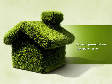 Nature & Environment: Groen Huis PowerPoint Template #04215