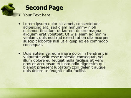 Green House PowerPoint Template Slide 2