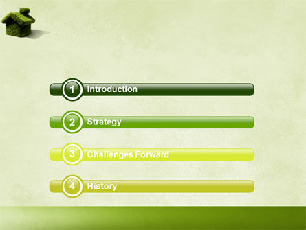 Green House PowerPoint Template Slide 3