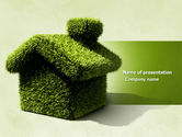 Green House PowerPoint Template#1