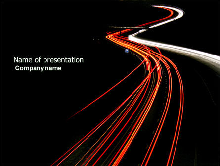Construction: Highway Lights PowerPoint Template #04216