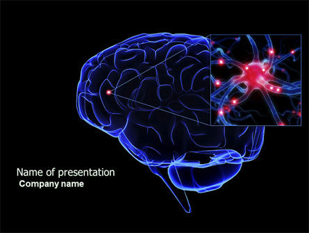 Medical: Brain Receptor PowerPoint Template #04218