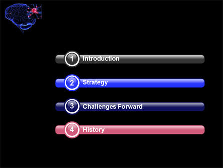 Brain Receptor PowerPoint Template, Slide 3, 04218, Medical — PoweredTemplate.com