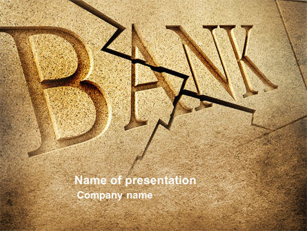 Bank Bankruptcy PowerPoint Template, 04221, Financial/Accounting — PoweredTemplate.com