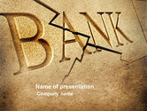 Financial/Accounting: Bank Bankruptcy PowerPoint Template #04221