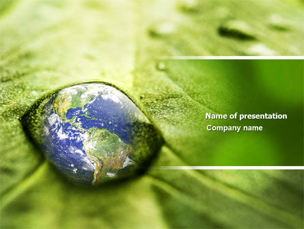 Nature & Environment: Water Drop PowerPoint Template #04223