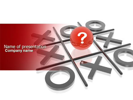 TicTacToe Powerpoint Template Backgrounds