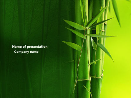 Nature & Environment: Bamboo Grove PowerPoint Template #04227