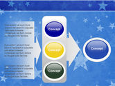 Christmas Tree On The Blue Snow PowerPoint Template#11