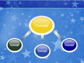 Christmas Tree On The Blue Snow PowerPoint Template#4