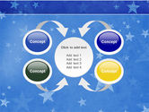 Christmas Tree On The Blue Snow PowerPoint Template#6