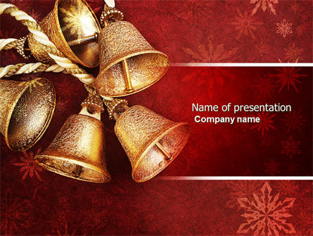 Christmas Bells PowerPoint Template, 04233, Holiday/Special Occasion — PoweredTemplate.com