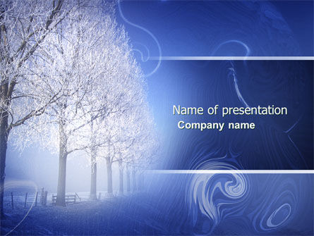 Nature & Environment: Snow-covered Alley PowerPoint Template #04234