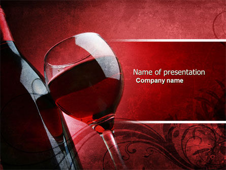 Wine Glass PowerPoint Template, 04235, Food & Beverage — PoweredTemplate.com