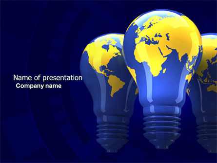 World Energy PowerPoint Template, 04237, Nature & Environment — PoweredTemplate.com