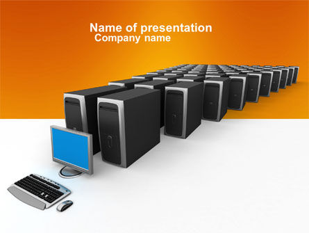 Computers: System Administration PowerPoint Template #04238