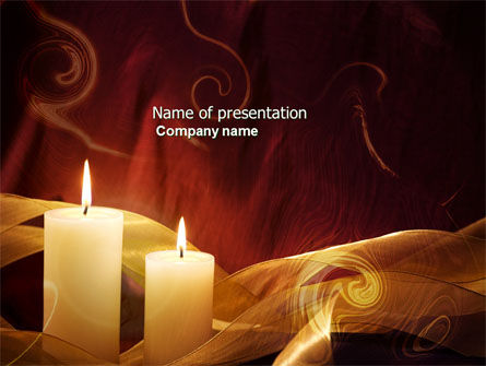 Religious/Spiritual: Candle Light PowerPoint Template #04239