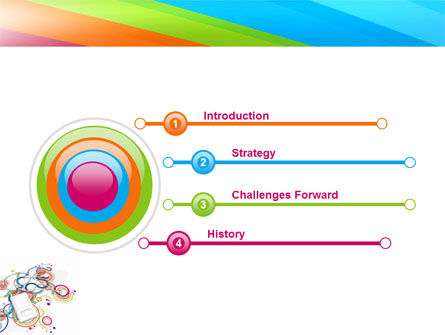 Mp3 Player On Colored Background PowerPoint Template, Slide 3, 04242, Technology and Science — PoweredTemplate.com