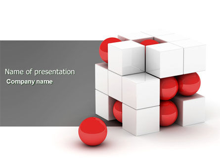 Construction: Cubic Structure PowerPoint Template #04243