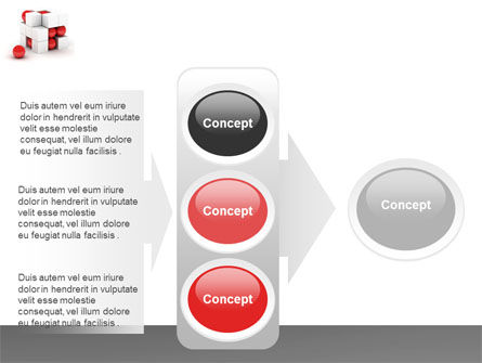 Cubic Structure PowerPoint Template Slide 11