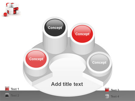 Cubic Structure PowerPoint Template Slide 12