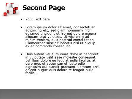 Cubic Structure PowerPoint Template, Slide 2, 04243, Construction — PoweredTemplate.com