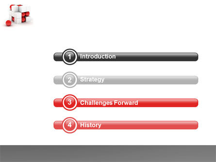 Cubic Structure PowerPoint Template Slide 3