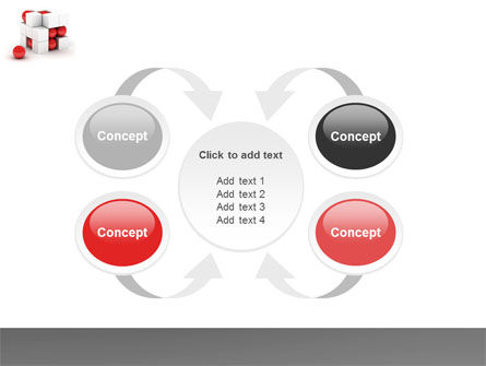 Cubic Structure PowerPoint Template Slide 6