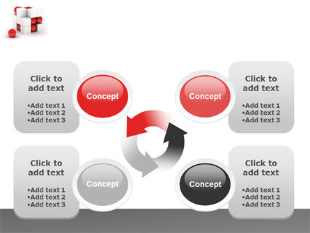 Cubic Structure PowerPoint Template Slide 9
