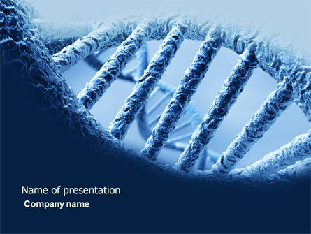 Medical: DNA Molecular Structure PowerPoint Template #04245