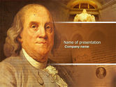 Education & Training: Benjamin Franklin PowerPoint Template #04247