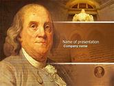 Education & Training: Benjamin Franklin PowerPoint Template #04247