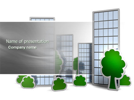 Plan Of Gardening District PowerPoint Template