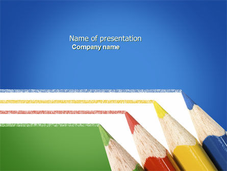 Education & Training: Templat PowerPoint Garis Pensil Warna #04251