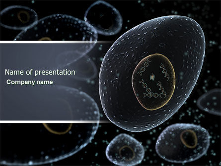 Medical: Organic Cells Nucleus PowerPoint Template #04252