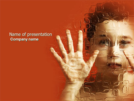 Autism PowerPoint Template, 04257, Medical — PoweredTemplate.com