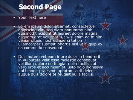 New Zealand PowerPoint Template, Slide 2, 04258, Flags/International — PoweredTemplate.com