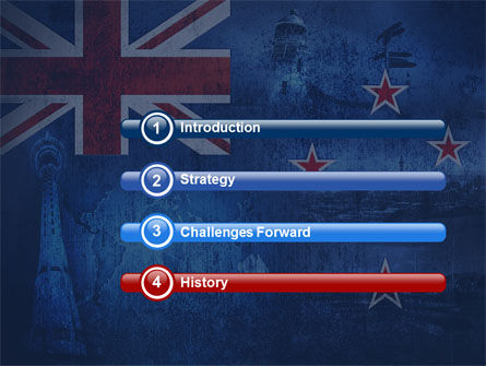 New Zealand PowerPoint Template, Slide 3, 04258, Flags/International — PoweredTemplate.com
