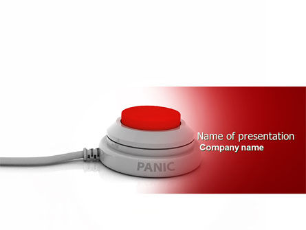 Panic Button PowerPoint Template, 04259, General — PoweredTemplate.com